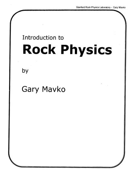 Earth Science Shadow: text book on Rock Physics by Gary Mavko