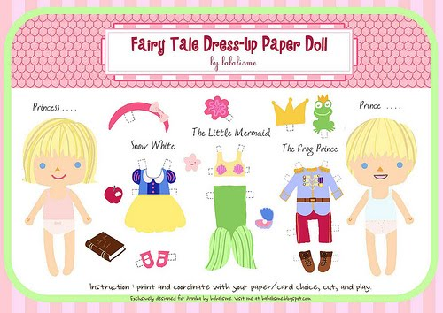 puppy love preschool free fairy tale dress up paper doll printables. Black Bedroom Furniture Sets. Home Design Ideas