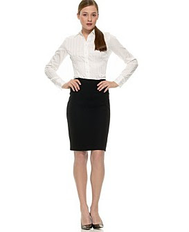 9e5f47dcab3196 In my world, there is absolutely nothing that blows the mind more than a  sophisticated lady in a tailored pencil skirt and a crisp clean white shirt.