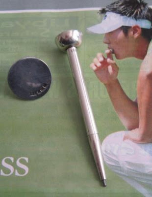 golf marker and mechanical golf pencil