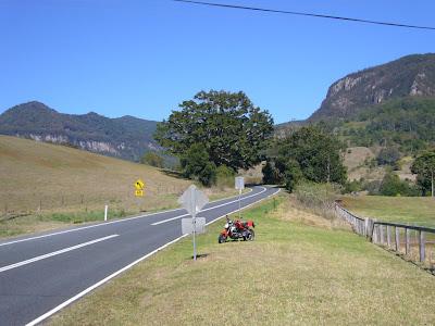 Good motorcycle roads Gold Coast - Numinbah (Tyalgum)