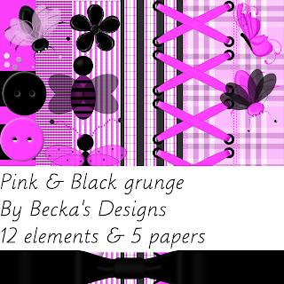 http://beckadesigns.blogspot.com/2008/07/pink-black-grunge-kit.html