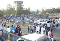 Gondar, Timkat. Pellegrini nei pressi dello Stadio. Foto Della Lunga, 2007