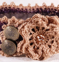 Knitted Embellished Cuff by Gilflings Designs