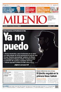 Milenio Diario, publicado em Cidade do México, México