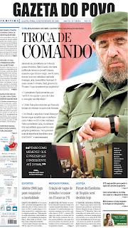 Gazeta do Povo, publicado em Curitiba, Brasil