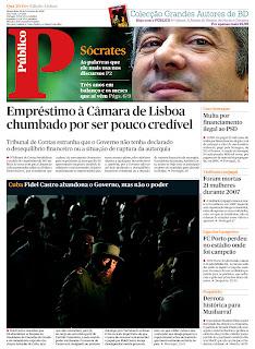 Público - Lisbon Edition, publicado em Lisboa, Portugal