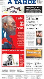 A Tarde, publicado em Salvador, Brasil