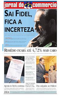 Jornal do Commercio, publicado em Recife, Brasil