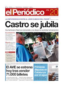 El Periódico de Catalunya - Spanish Edition, publicado em Barcelona, Espanha