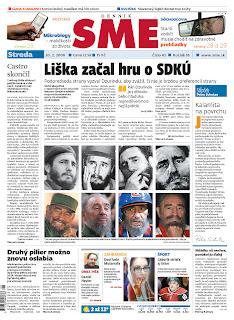 SME, publicado em Bratislava, Eslováquia