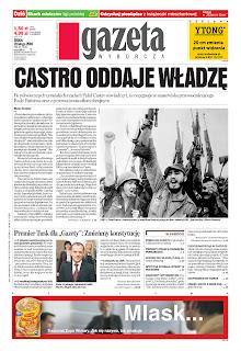 Gazeta Wyborcza, publicado em Varsóvia, Polônia