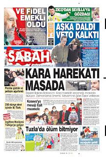 Sabah, publicado em Istanbul, Turquia