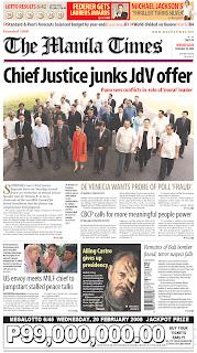 The Manila Times, publicado em Manila, Filipinas