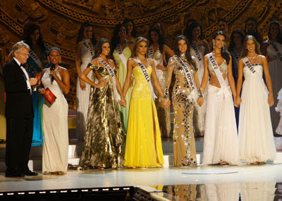 Miss Colombia - Miss Venezuela - Miss Dominica - Miss Mexico -Miss Russia