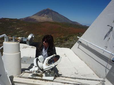 Jarre no Observatório de La Palma