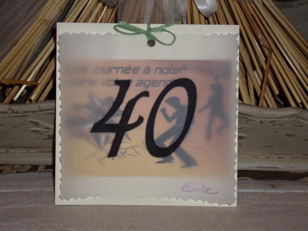 decoagnes: Carte d'invitation pour les 40 ans de mon époux le 26 août 2006