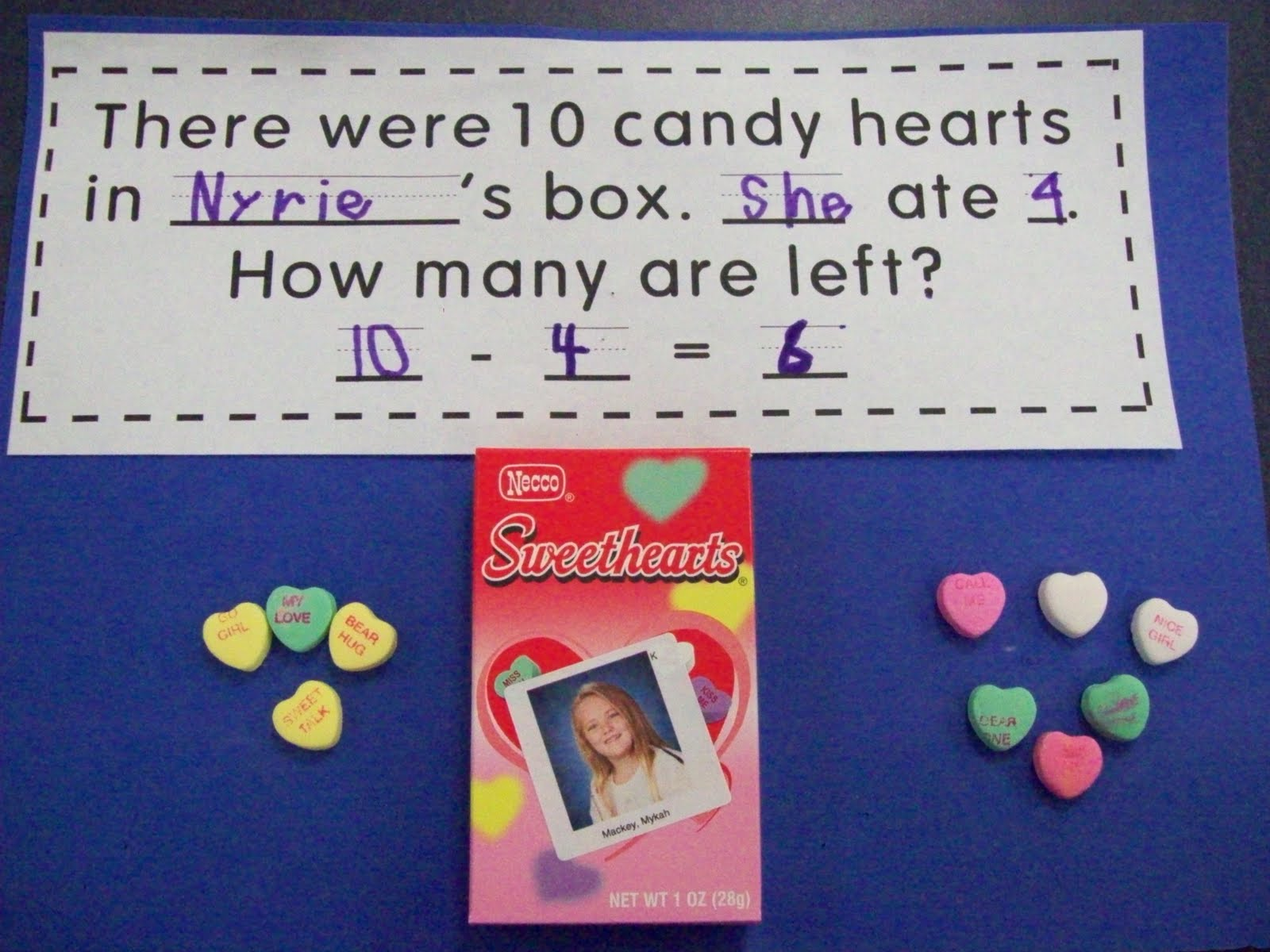 Chalk Talk A Kindergarten Blog Valentine Subtraction