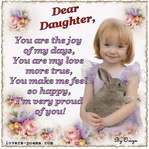 Nice Quotes, Poems, Love Quotes, Sweet Love Words, Messages...: Poems and Quotations about daughters