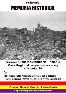 Conferencia Memoria Histórica Fuelabrada - 9 Noviembre 2007