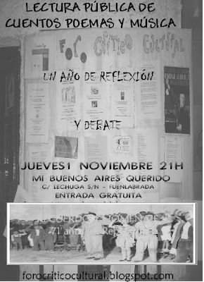 1 de noviembre 2007 - Foro Crítico Cultural de Fuenlabrada