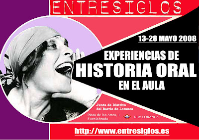 HISTORIA ORAL EN EL AULA - MAYO 2008