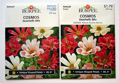 Cosmos Seashells Mix seed packets