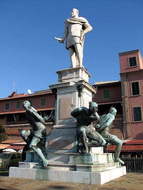 Monumento a Ferdinando I, Quattro Mori, Livorno