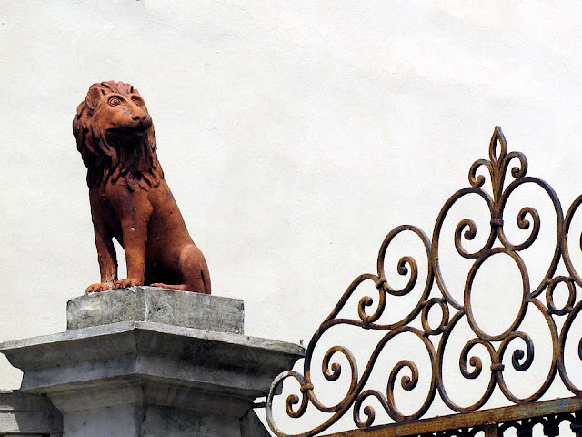 Stupid-faced lion, via Red, Livorno