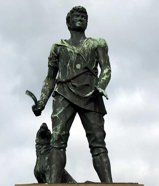 Villano, peasant statue, Livorno