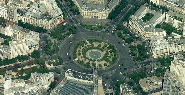 View of place d'Italie in Paris, from Bing Maps