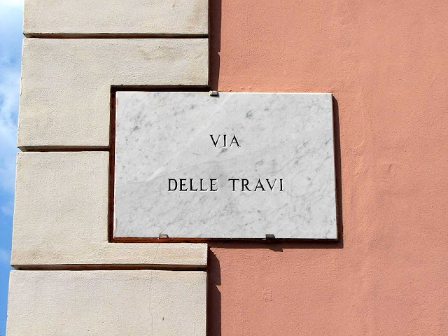 Via delle Travi, Wood Beams Street, plaque, Livorno