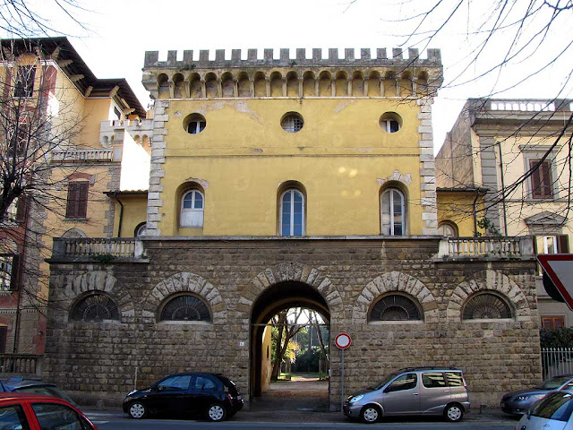 Castle entrance, park of Villa Maria, Livorno