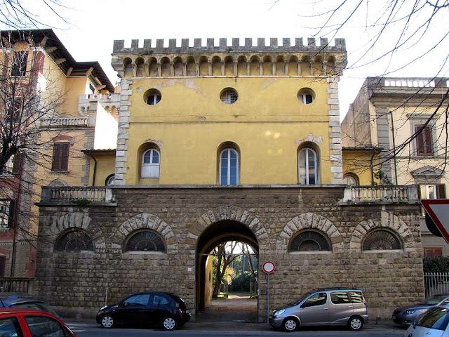 Castle entrance, park of Villa Maria, Livorno