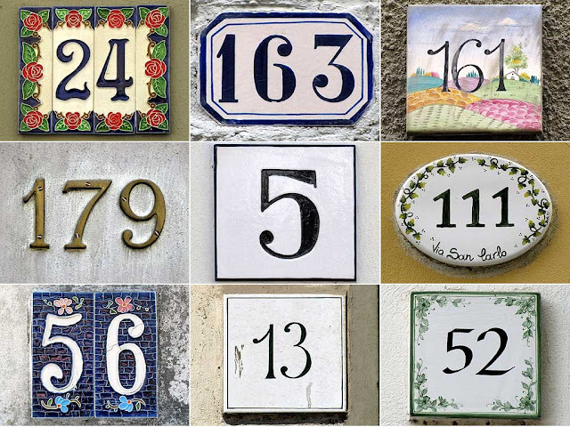 Picturesque house numbers, Livorno