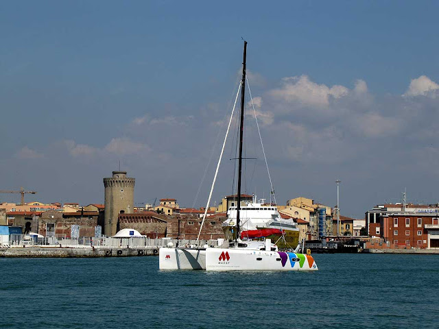 Baies du Monde catamaran, port of Livorno