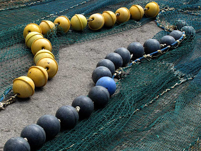 buoys and fishing nets