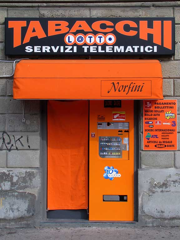 Orange tobacconist, Livorno