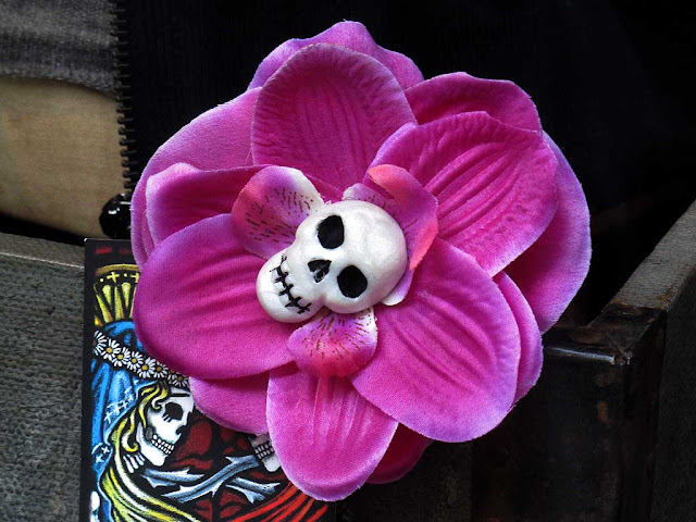 Skull and flower, Cruce, livorno