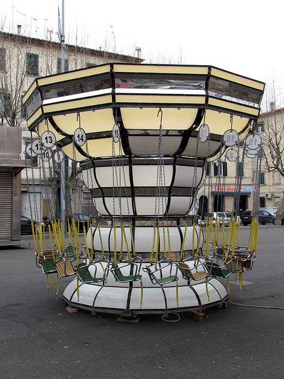 Swing carousel for kids, Livorno