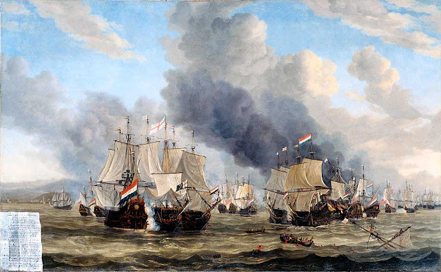 The Battle of Livorno (Leghorn) by Reinier Nooms, 1653