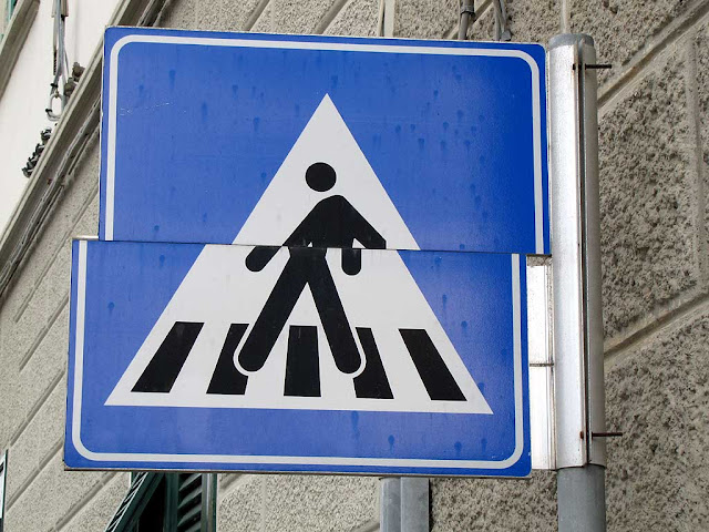 Zebra crossing sign, Livorno