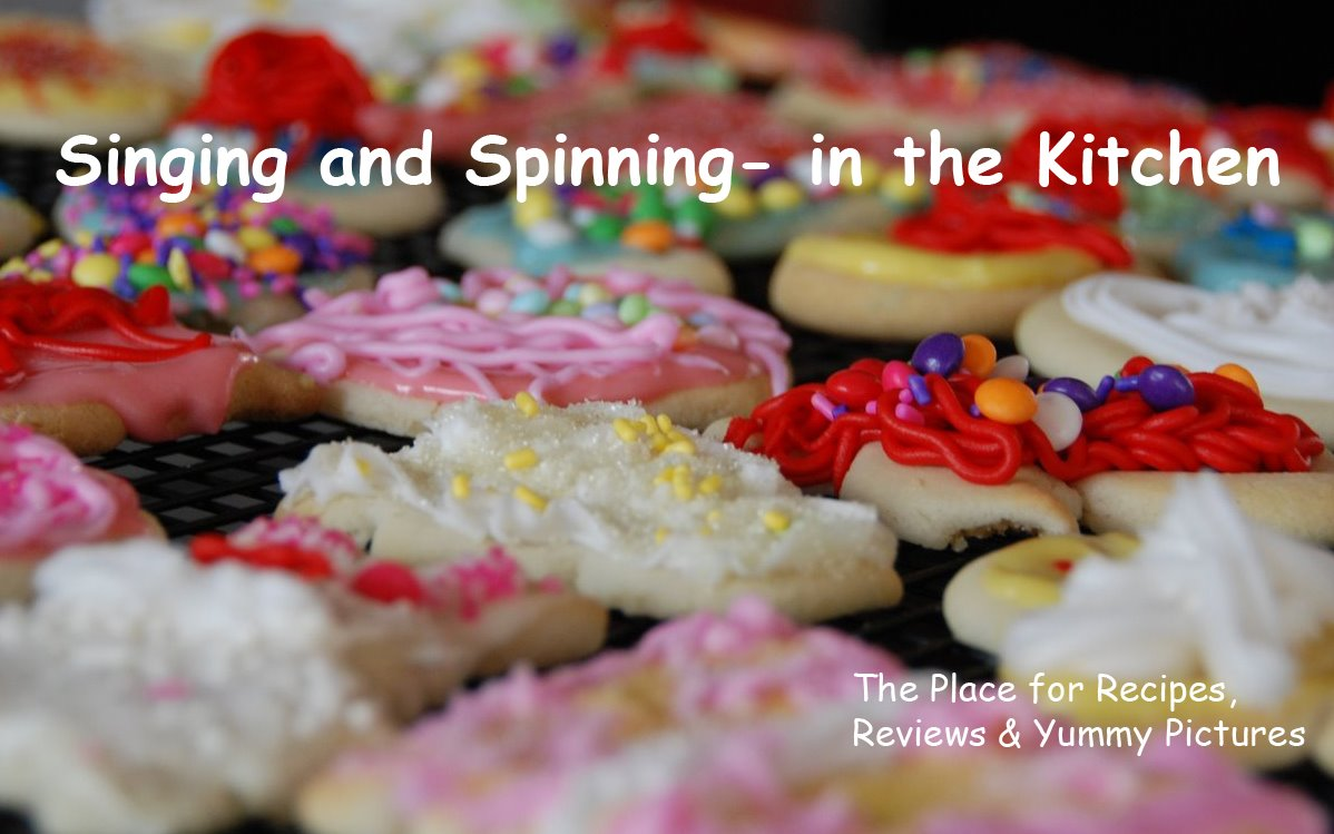 Singing and Spinning- in the kitchen