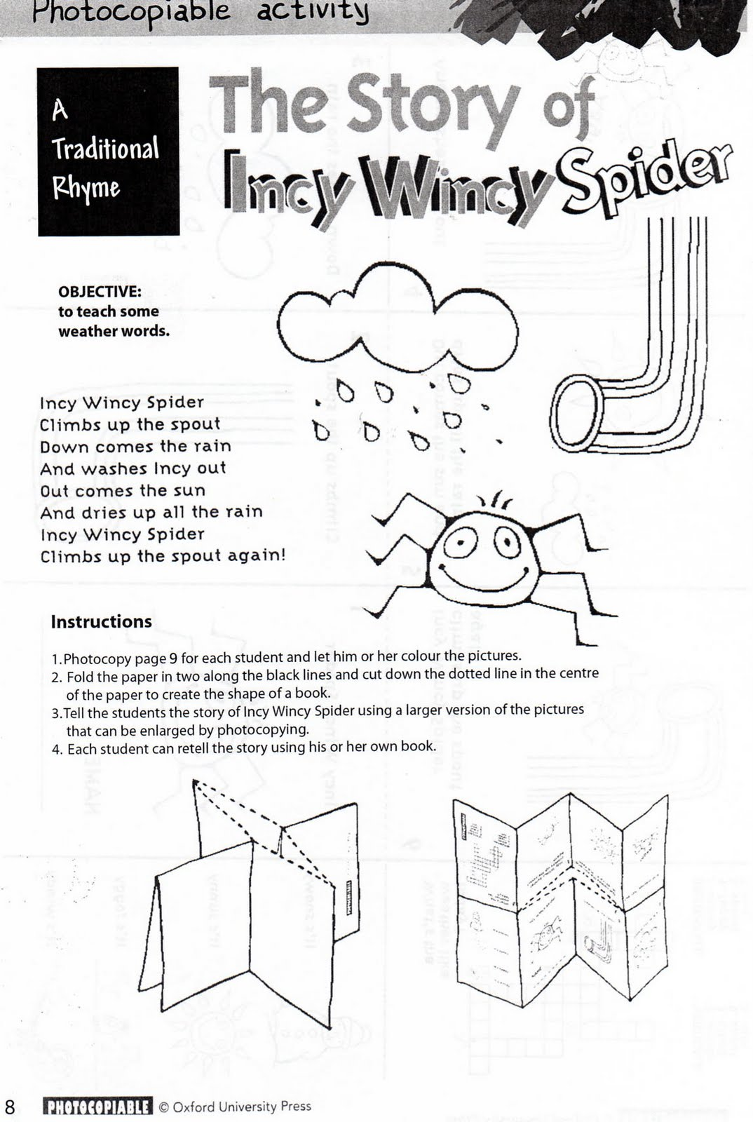 Incy Wincy Spider Mini Book