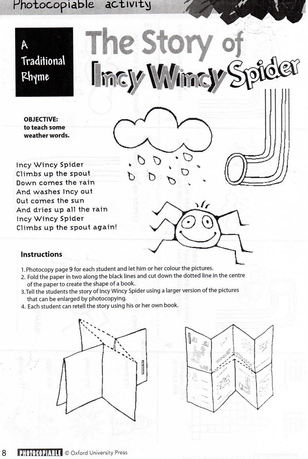 Incy Wincy Spider Mini Book