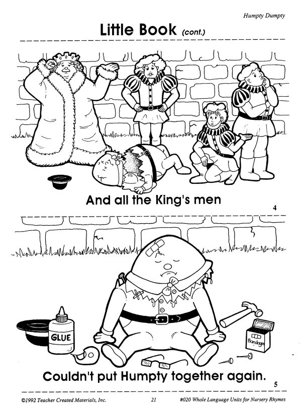 Humpty dumpty printables learningenglish esl for Humpty dumpty coloring pages