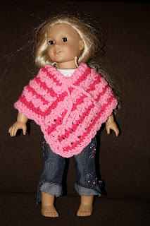 American Girl Doll Clothes: Crocheted Poncho Set with Flowered ...   320x213