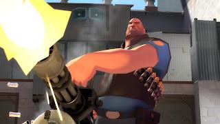 Un Heavy Weapons Guy haciendo de las suyas