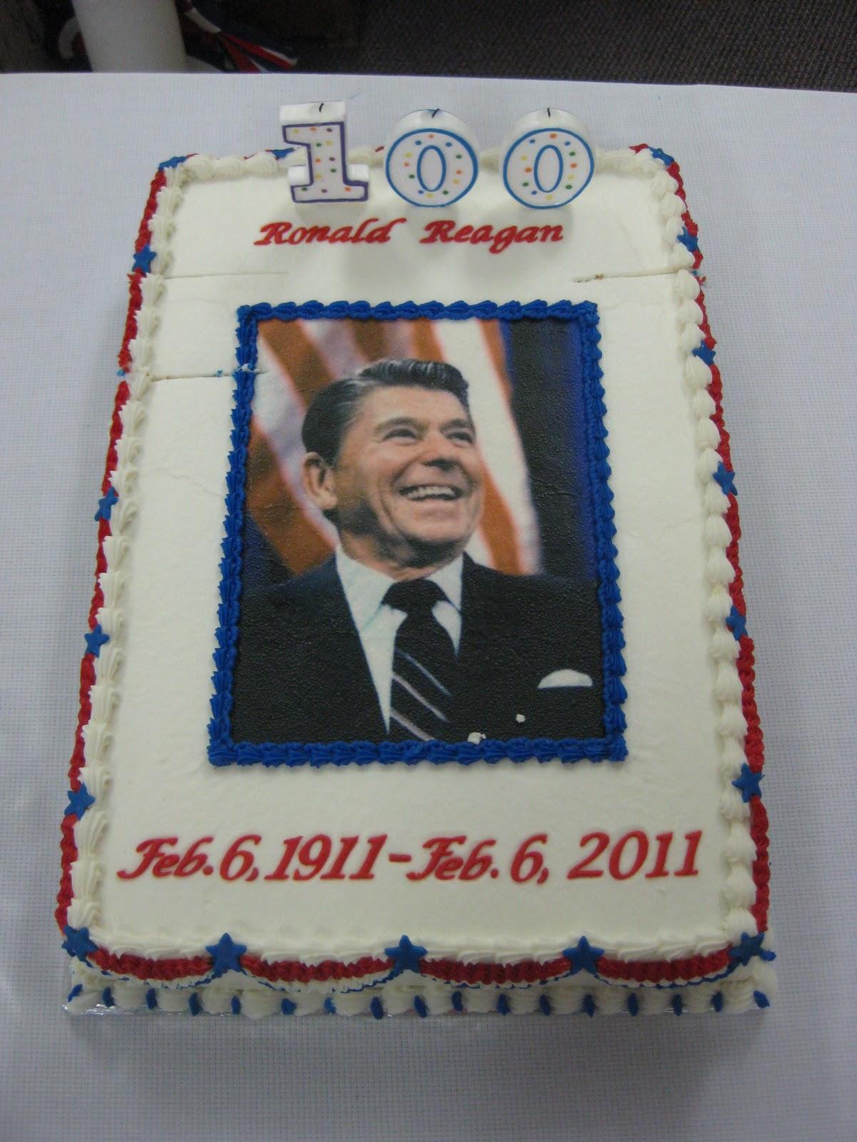 Birthday Cake Image For Ron : Marathon Pundit: Report from Tampico, Illinois on Reagan s ...