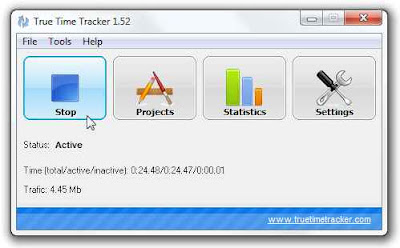 True Time Tracker - programa para calcular el tiempo de eficiencia
